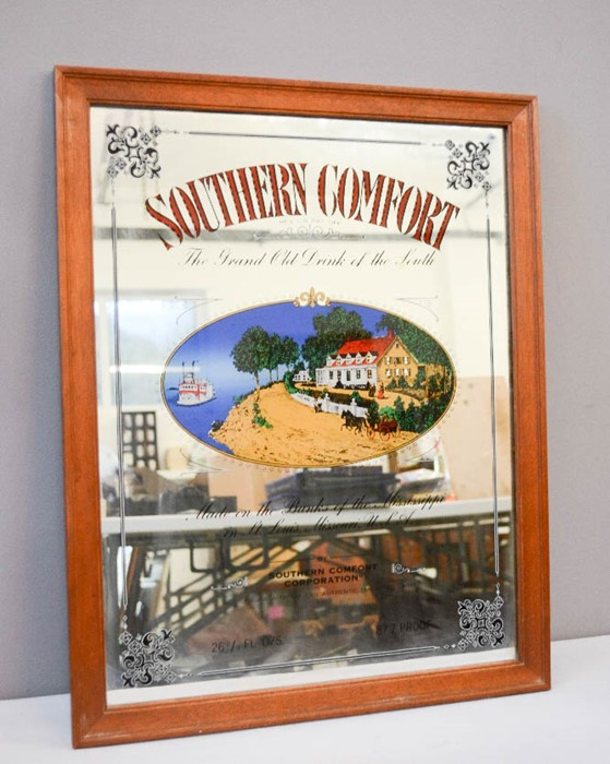 Lot 43 - Pub mirror; Southern Comfort, The Grand Old Drink of the South, 48 by 61cm.