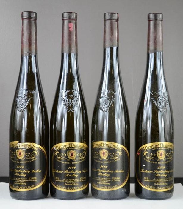 Lot 28 - Four bottles of Weingut Paulinshof 2006 Kester Paulinsberg Auslese Reisling.