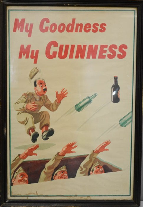 Lot 45 - An original Guinness poster, 'My Goodness my Guinness', 78 by 51cm.