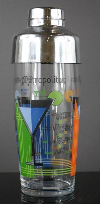 Lot 40 - A 'Metropolitan' and 'Manhattan' cocktail shaker,