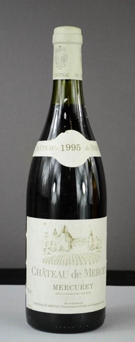 Lot 30 - Chateau de Mercey Mercurey 1995 red wine.
