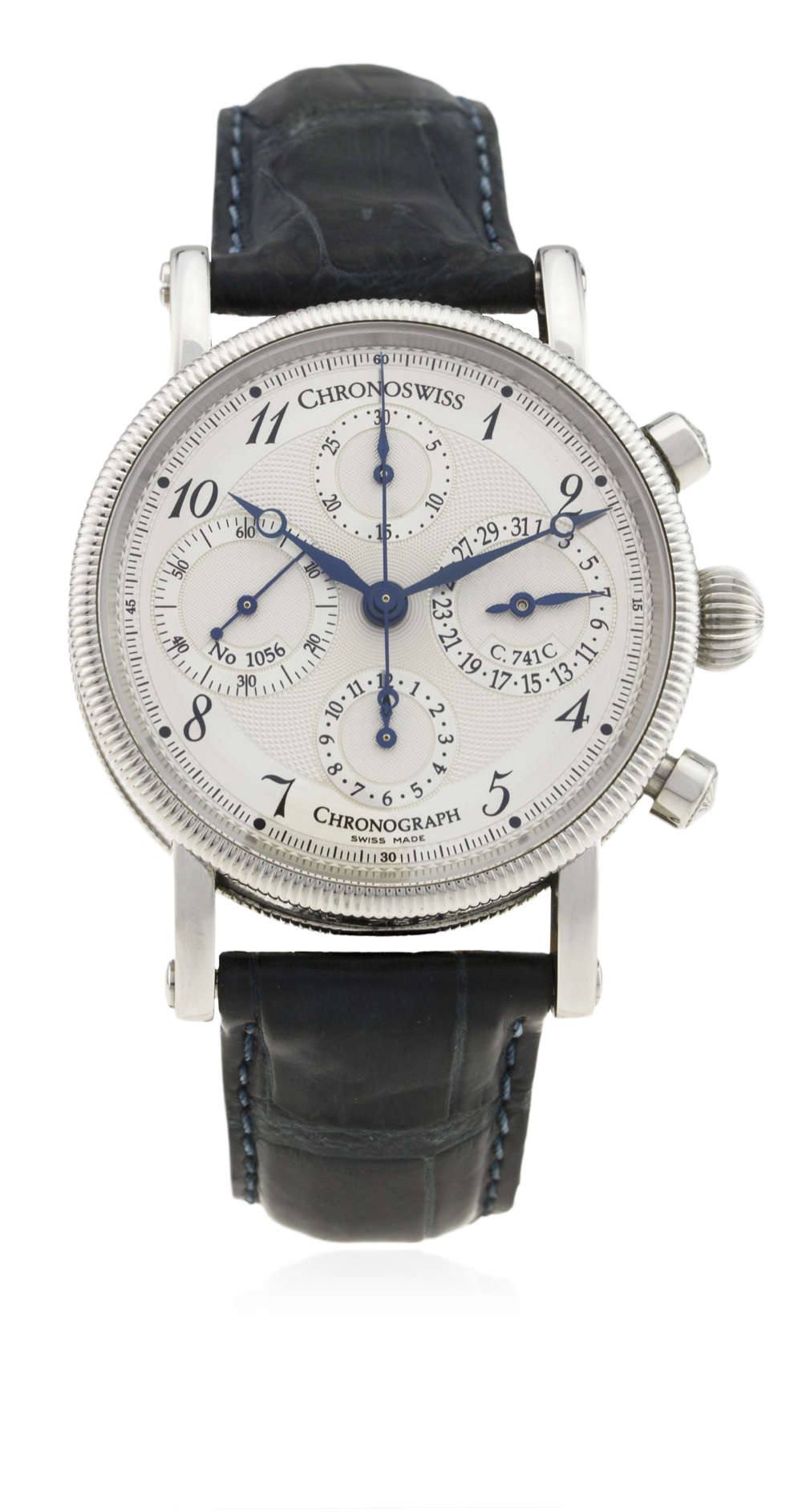 Lot 116 - A GENTLEMAN'S STAINLESS STEEL CHRONOSWISS CHRONOGRAPH WRIST WATCH CIRCA 2008, CH 7523 D: Two tone
