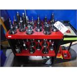 Tecnara & Others, 50 Taper Tool Holders w/ Cart
