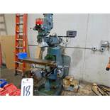 "Enco 1 1/2hp Var. Spd. Vertical Mill w/ Enco DROs, 9"" x 42"" Table, Var. Spd., PF Table; S/N n/a"