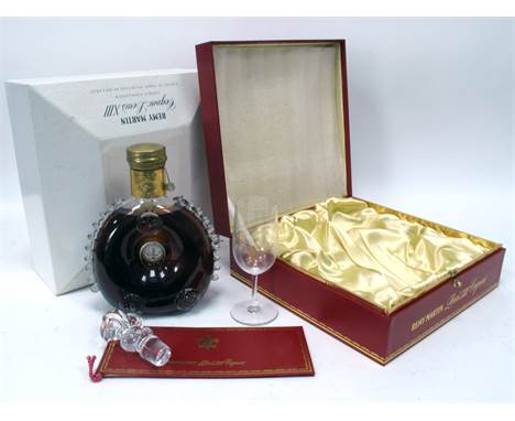 Cognac - Remy Martin Grande Champagne Cognac Louis XIII, Connoisseur's Presentation Decanter (together with stopper) and Glas