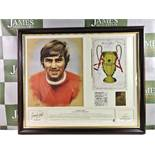 George Best Manchester United Signed 1968 European Cup Winners Montage Ltd Ed.#267/500