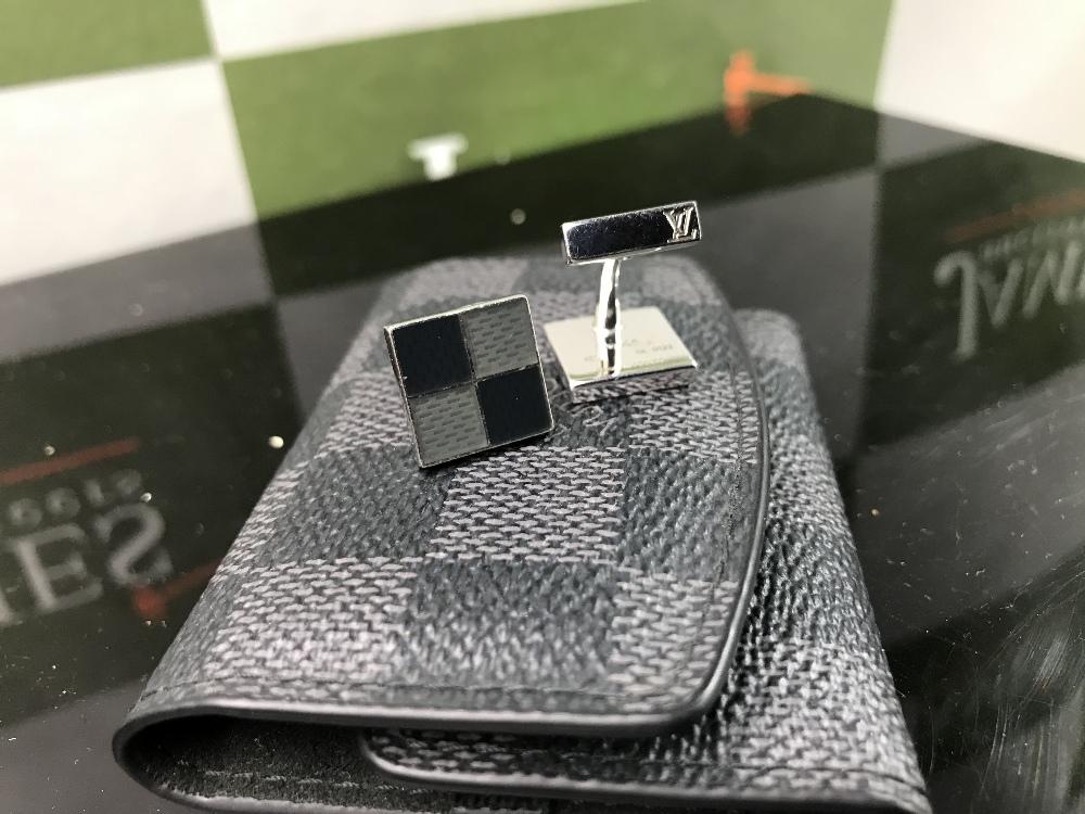 Lot 17 - Louis Vuitton Sterling Silver .925 Cufflinks/Original Case