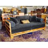 French Art Deco Burr Walnut Daybed Sofa