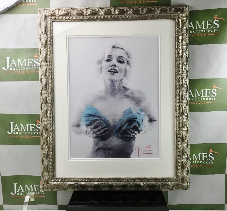 Lot 9 - Marilyn With Roses By Bert Stern( 1929-2013) Lithograph Ornate Framed