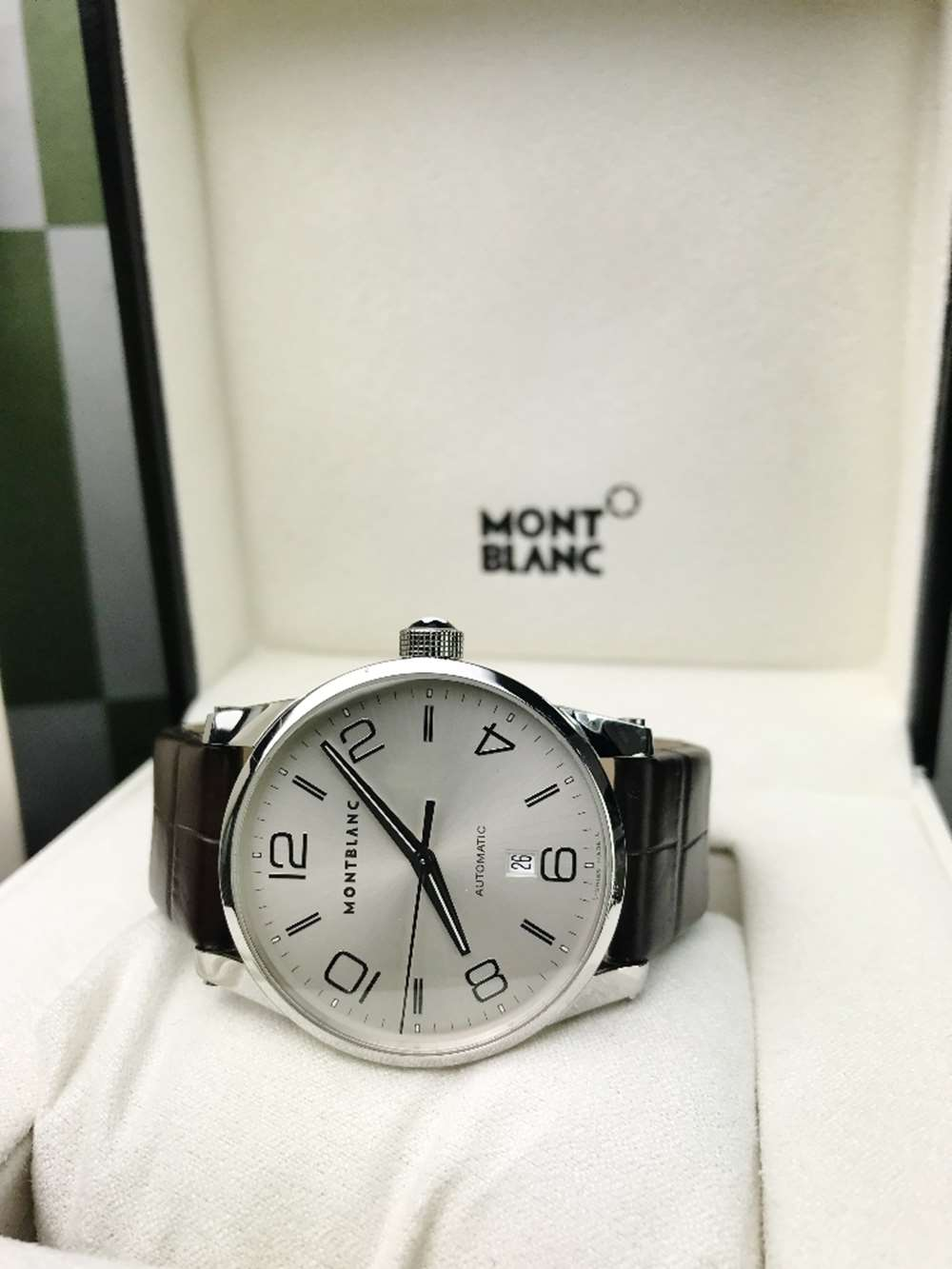 Lot 4 - Montblanc Timewalker, Automatic, Brown Alligator Strap, Serviced By MB