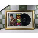 Elvis Presley Signed Blue Hawaii Album Framed Montage.