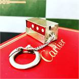 Cartier Vintage Sterling Silver Lucky Dice Keyring Key Chain
