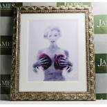 Marilyn With Roses By Bert Stern Lithograph Ornate framed