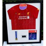 Liverpool Signed Champions League Winners Shirt Framed Montage Including Medal