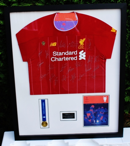 Lot 22 - Liverpool Signed Champions League Winners Shirt Framed Montage Including Medal