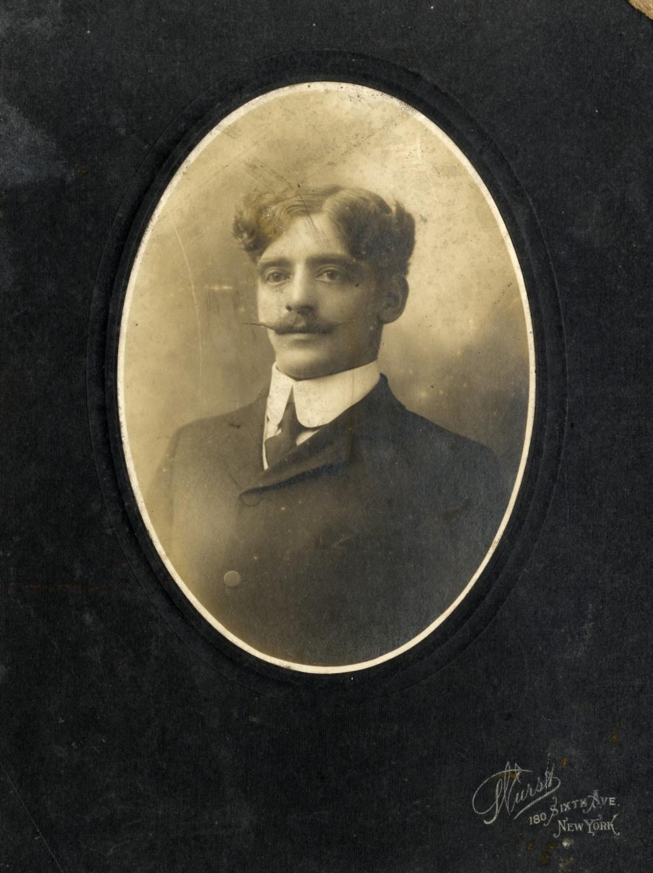 Lot 201 - R.M.S. TITANIC: Studio victim portrait of Fred Pennal, Bathroom Steward First Class, photo by