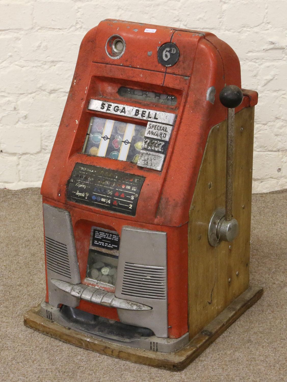 A Vintage Sega Bell One Arm Bandit Three Reel 6p Special Award Fruit Machine