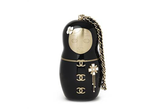 5be2fc3a374588 Chanel Black Plexiglass Matryoshka Doll Minaudiere This Chanel ...