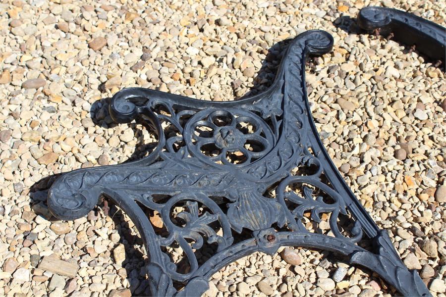 Lot 24 - Cast garden bench ends