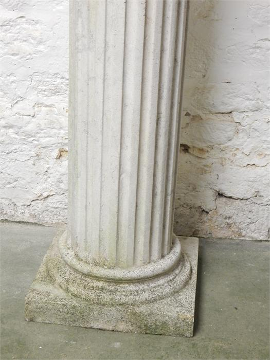 Lot 42 - Classical style bust and column - stone effect resin - Dimensions