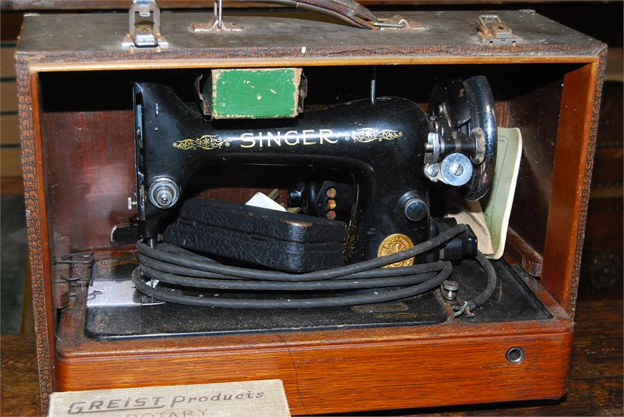 Lot 20 - Two singer sewing machines