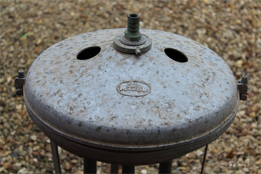 Lot 36 - Spinning milk churn cooler - could be used as a water feature