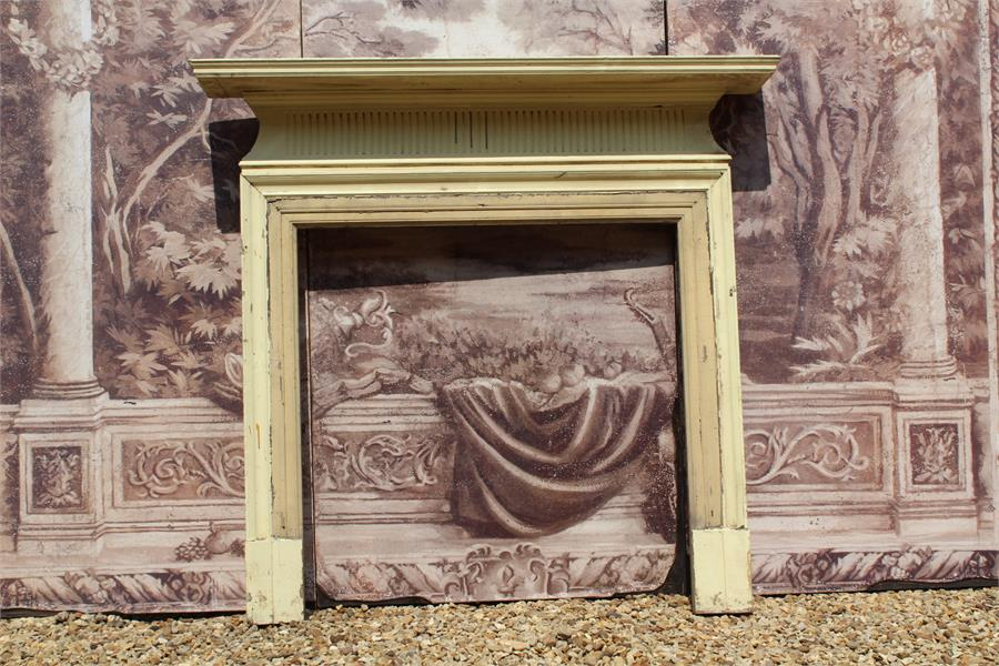 Lot 15 - Early 19th century George III / Regency painted pine fire surround chimney piece. condition