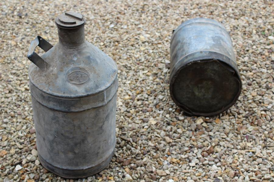 Lot 18 - Two ep & co vintage canisters - previously used for fuel