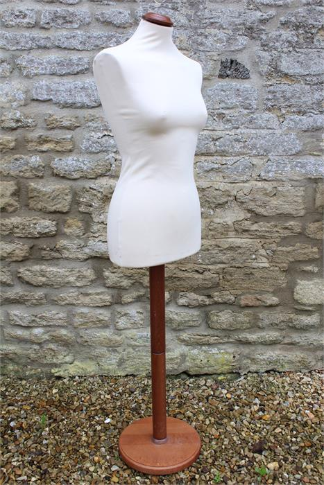 Lot 2 - Clothes dummy on pine stand.