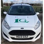 Ford Fiesta car derived van, registration number HG13 GSZ, first registered 23rd July 2013, Odometer
