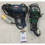 Hitachi Right Angle Drill & Bosch GHG 660 LCD 100 Volt Heat Gun (Located Norwich – See General Notes