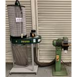 ZP-45 Pedestal Grinder, Serial Number 1999/600290 with Record Power Single Bag Dust Extractor (