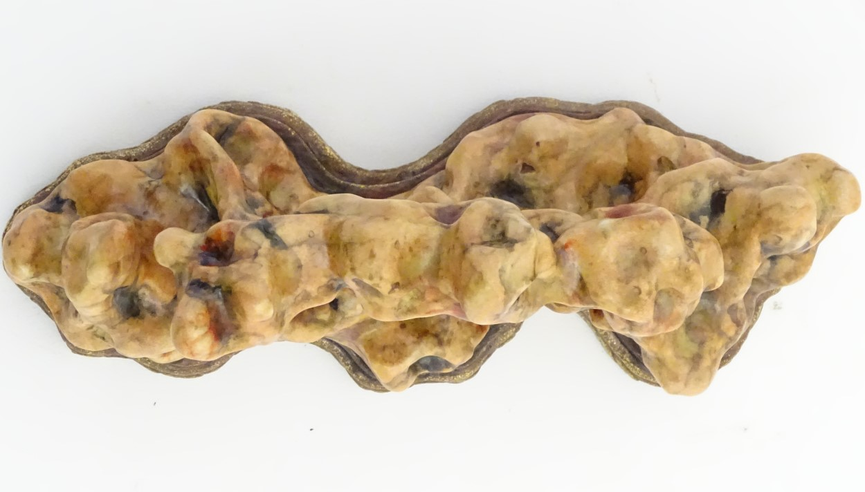 Lot 7 - A Chinese sculpture of stylised coral. Chinese character marks to base. Approx.