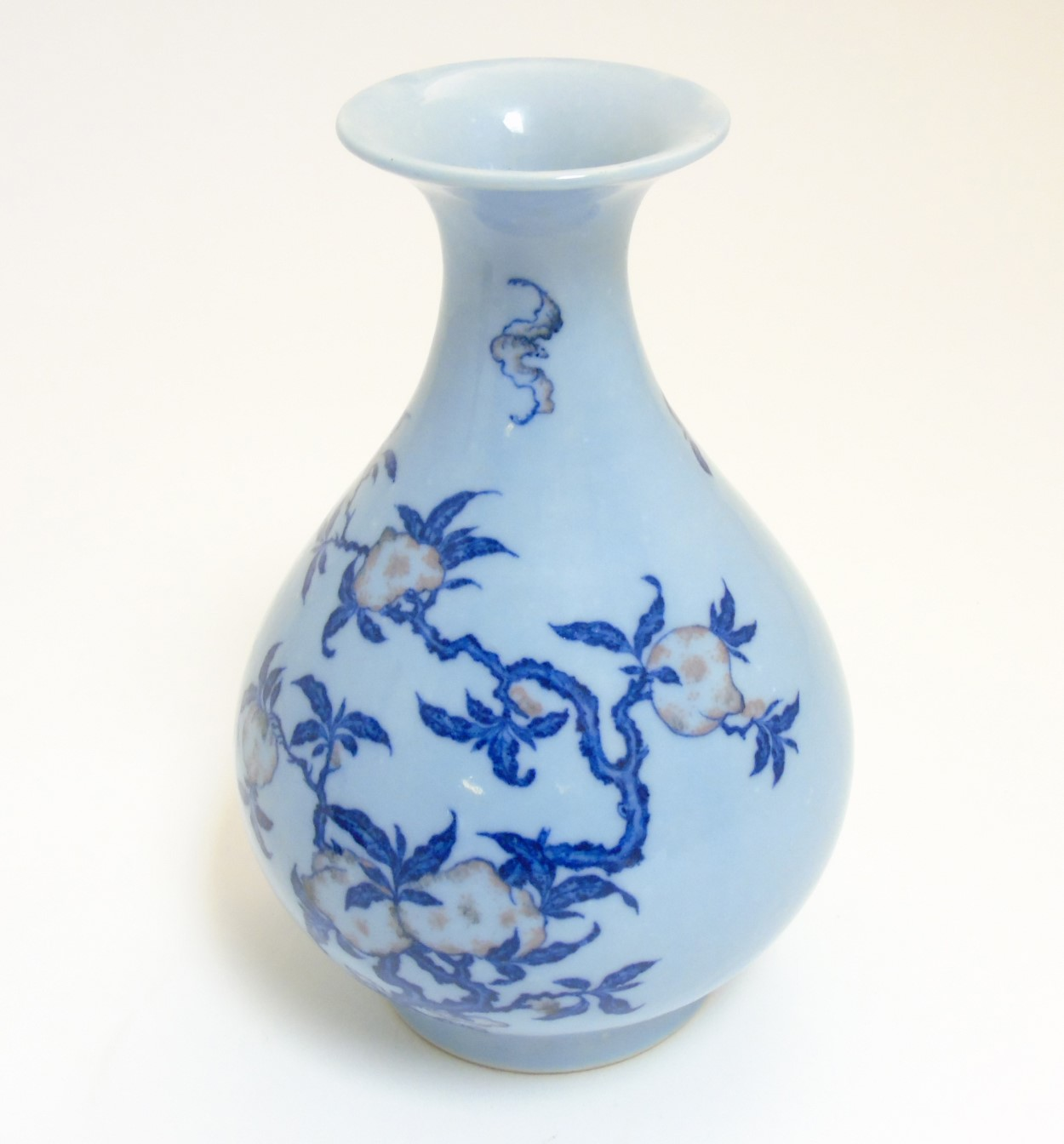 Lot 22 - A Chinese Yuhuchungping pear shaped vase with flared rim,