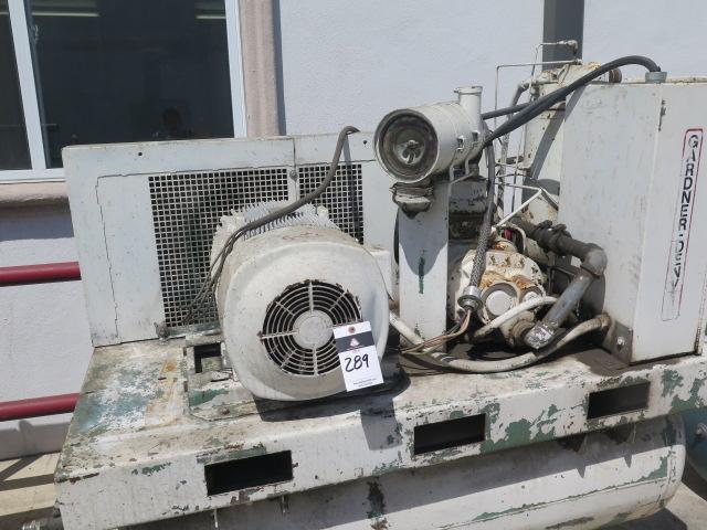 Lot 289 - Gardner Denver 30Hp Rotary Vave Air Compressor s/n M40261 w/ 120 Gallon Tank