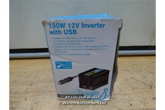 Nikkai 150w power inverter turns 12v into 240v new unused | in.