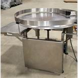 """48"""" Stainless Steel Turntable with guards start/stop controls Equipped with fold up sides to be used"""