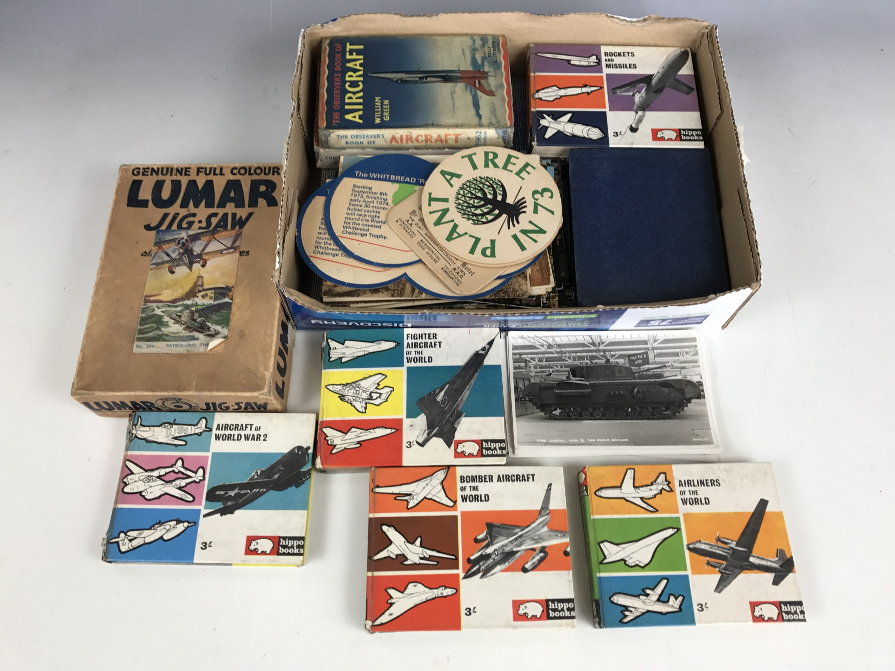 Lot 16 - [Military / Aviation] A 1930 Lumar jigsaw Patrolling The Sea, together with various books on