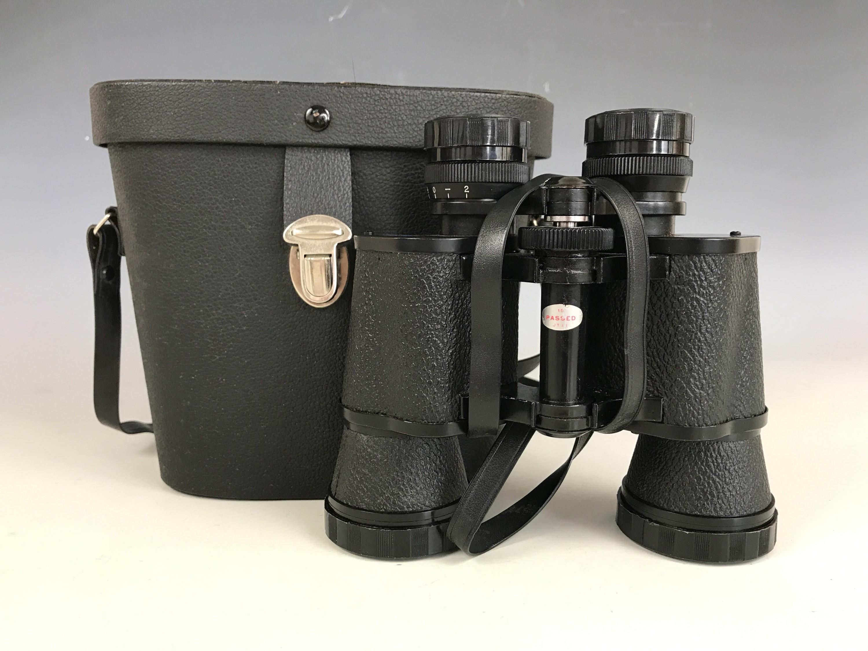 Lot 8 - A cased pair of Omiya 8x40 binoculars
