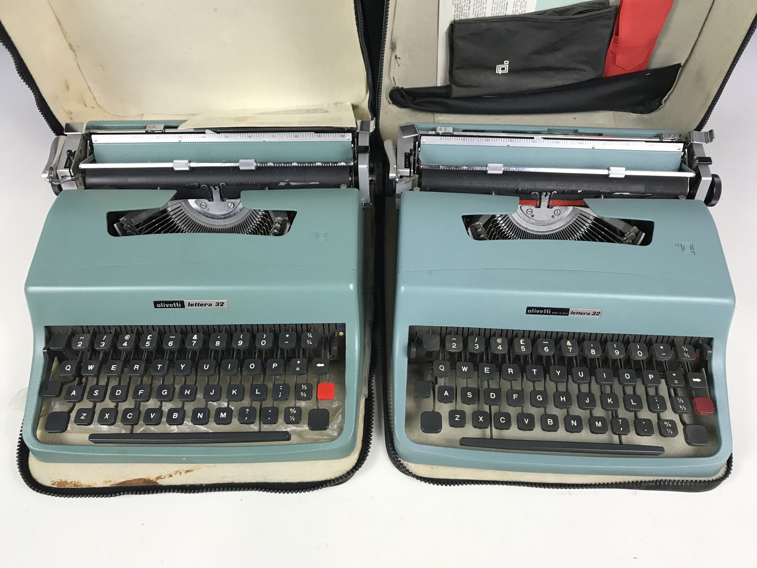 Lot 24 - Two 1960s Olivetti portable typewriters