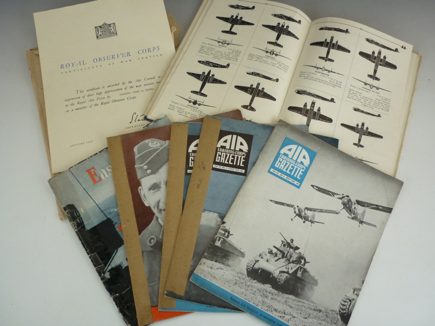 Lot 70 - A group of Second World War ARP and Observer Corps ephemera