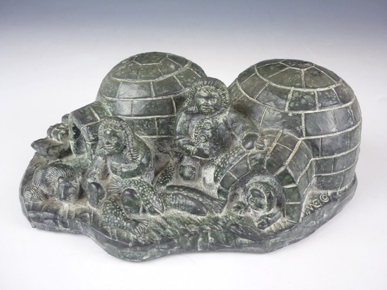 Lot 120 - A WE Wolf Original handmade Inuit style sculpture, 20th Century
