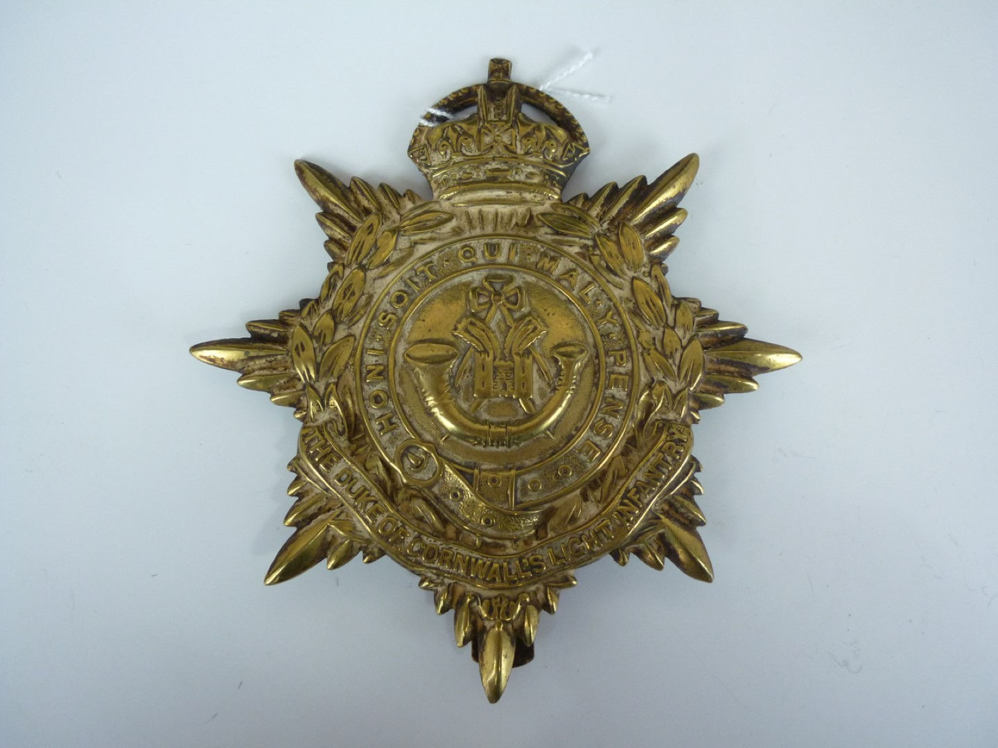 Lot 74 - A post 1901 Duke of Cornwall's Light Infantry other rank's pagri badge