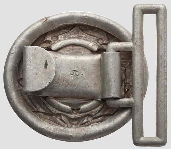 Feldbindenschloss für Führer der Technischen Nothilfe (TeNo) Hohlgeprägtes Aluminiumschloss mit - Image 2 of 2