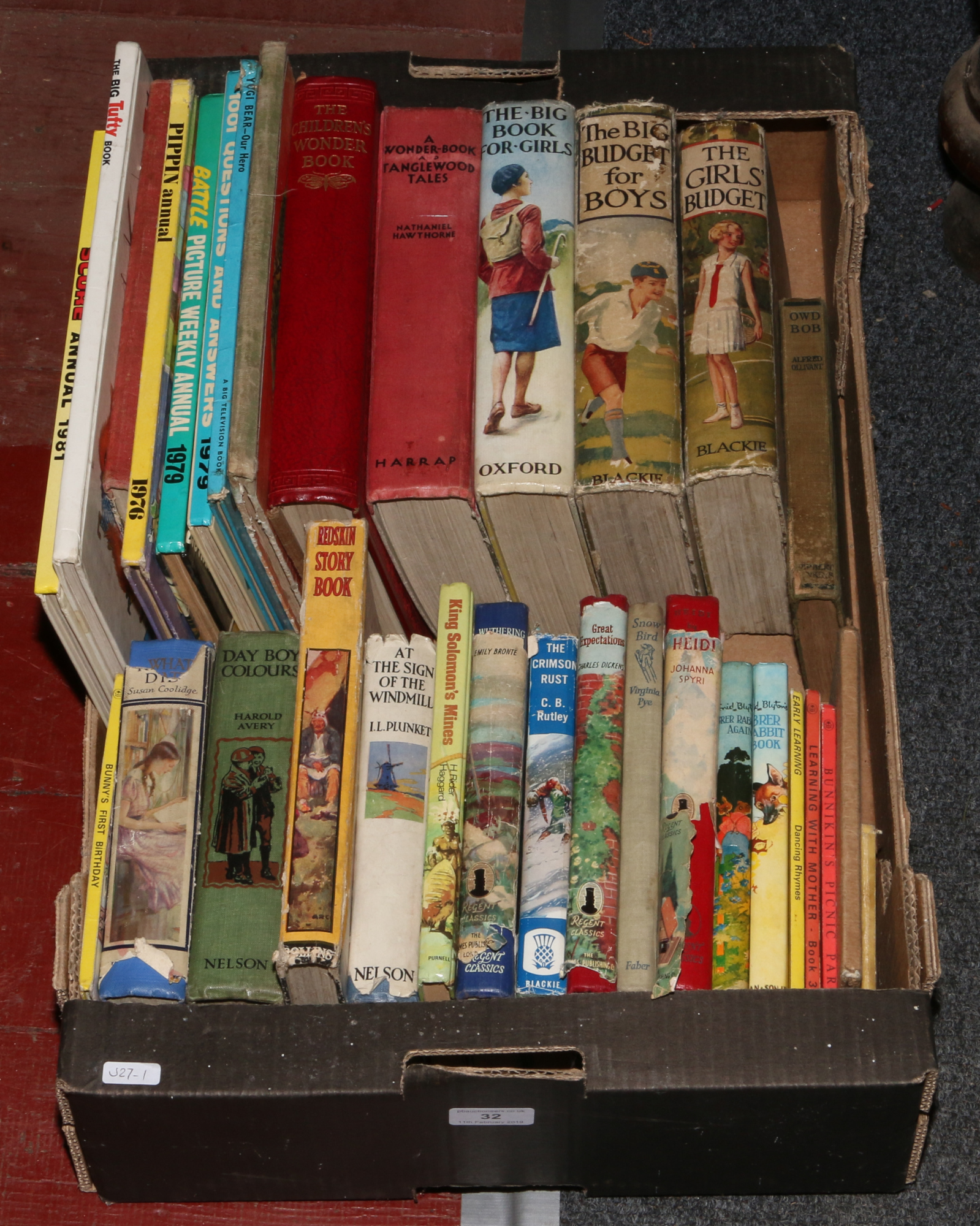 Lot 32 - A box of children's hardback story books, The Girls Wonder Years, Budget for Boys and Girls