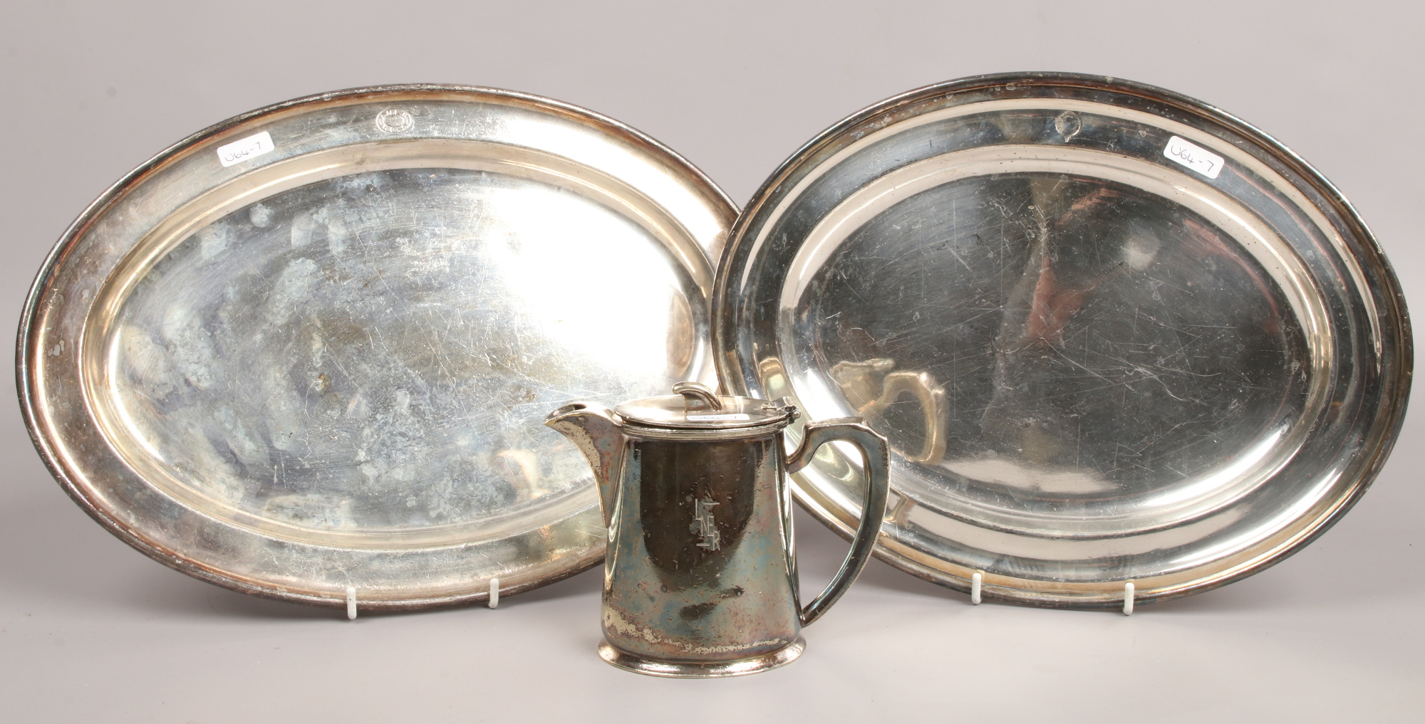 Lot 3 - Two LNER silver plate items and one similar to include Walker & Hall and James Dixon & Son
