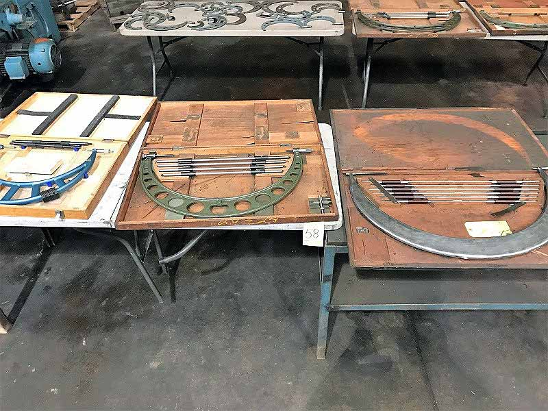 "Lot 58 - LOT OF O.D. MICROMETER SETS: (1) 12"" to 16"", (1) 20"" to 24"", (1) 24"" to 30"" (must be removed by"