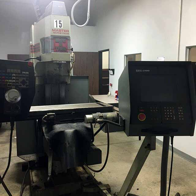 "Lot 24 - CNC VERTICAL MILL, TREE MASTER JOURNEYMAN, new 1996, 12"" x 51"" table, 30"" X, 15"" Y & 6"" Z-axis"