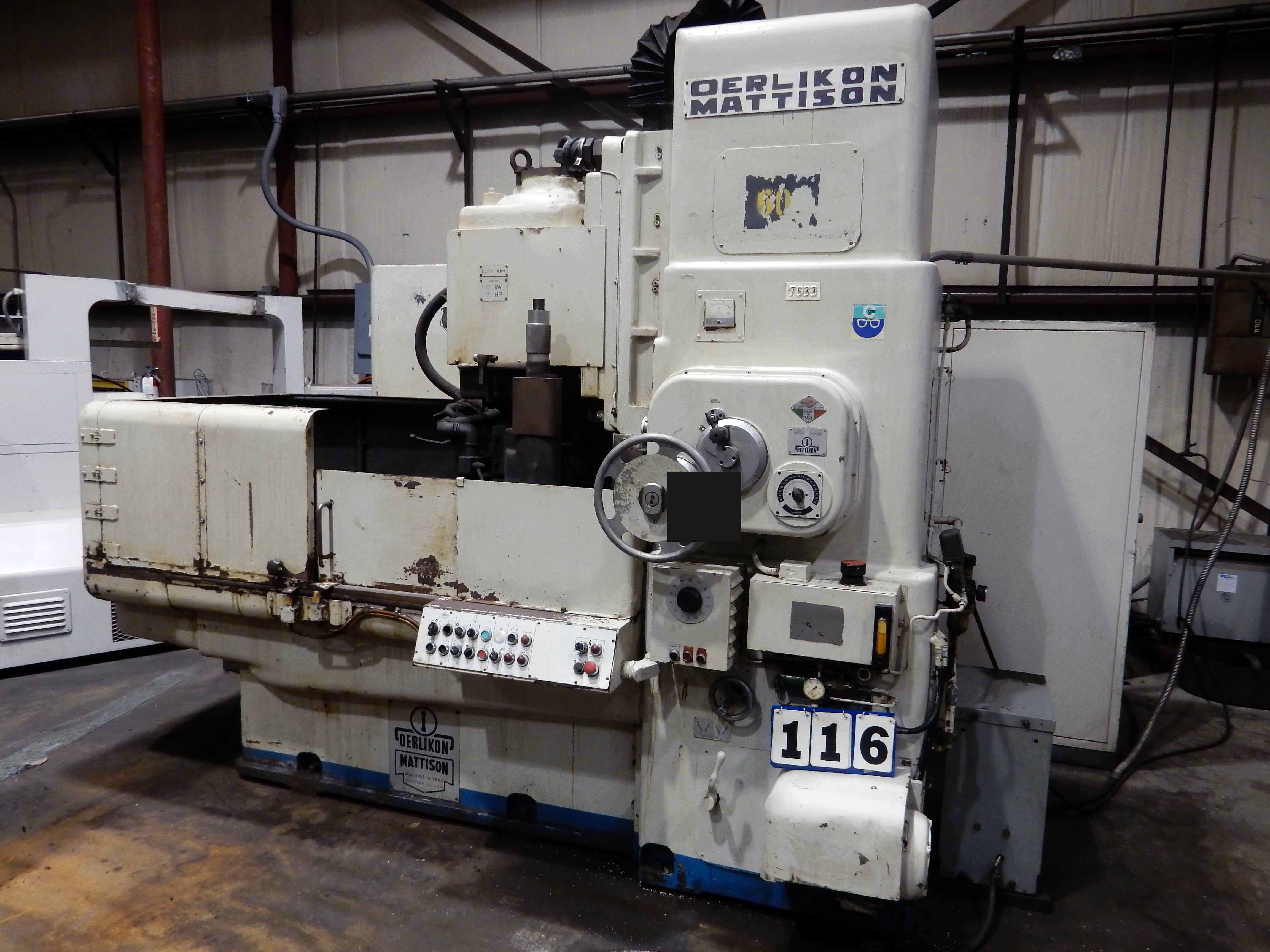 "Lot 52 - GRINDER, OERLIKON MATTISON MDL. ROTARY-Z4, 36"" magnetic chuck, S/N EV-24-0608 (must be removed by"