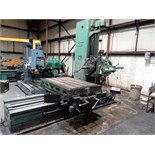 "Lot 46 - HORIZONTAL BORING MILL, CINCINNATI GILBERT, 43"" x 65"" table, Mitutoyo D.R.O., S/N N.A. (must be"
